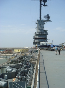 BATTLE STATIONS: Relive the climatic battles of the USS Lexington when you board this floating museum.