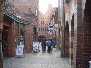 DOWN MEMORY LANE: The winding medieval streets of Bremen's old quarter.