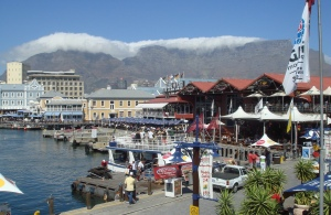 On the waterfront: When the 'table cloth' covers the mountain it's time to hit Cape Town's Victoria and Alfred precinct for shopping and dining.