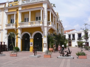 Colonial architecture in the Old City of Cartagena